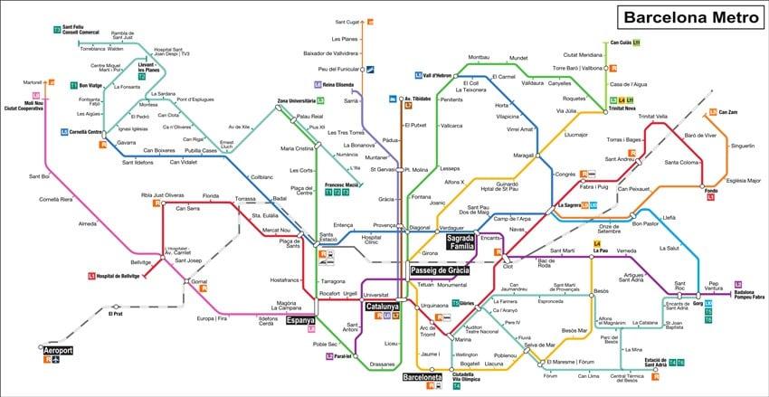 Barcelona Metro Haritası