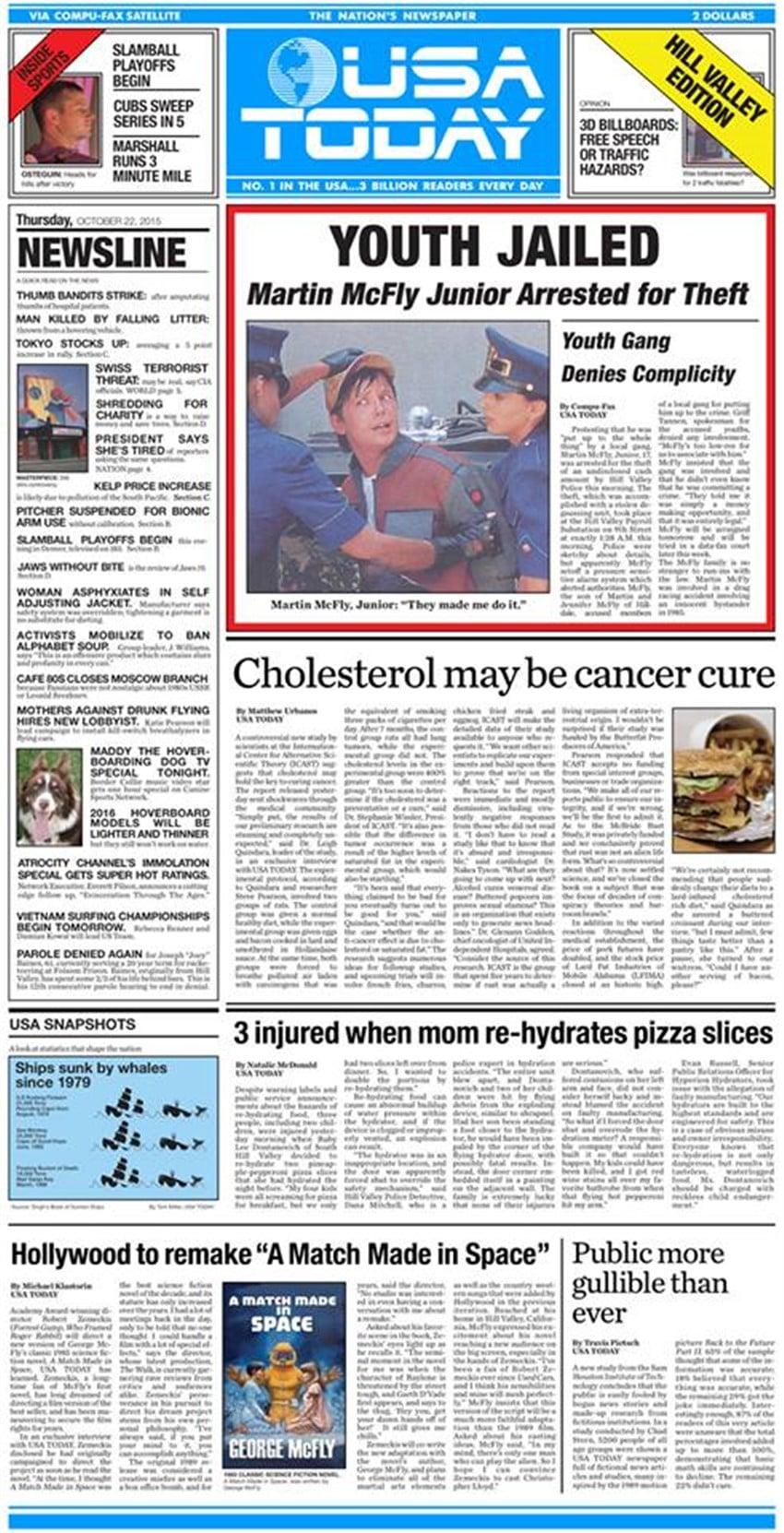 geleceğe dönüş günü gazete
