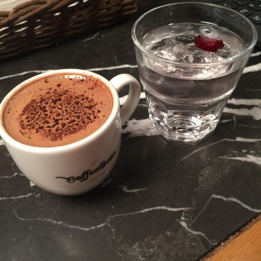 coffee bain nutellalı türk kahvesi