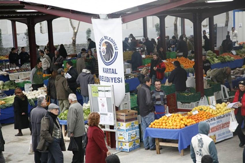 İstanbul'da Organik Pazarlar Kartal Belediyesi Ekolojik Pazar İstanbul