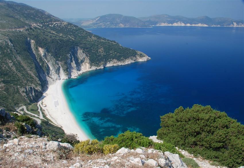 Avrupa'daki En İyi Plajlar Myrtos Beach, Kefalonia