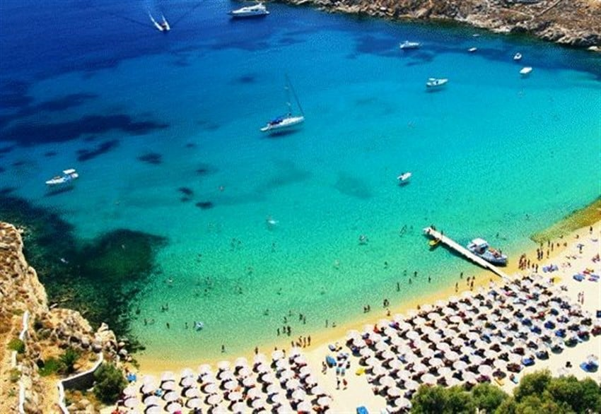 Avrupa'daki En İyi Plajlar Paradise Beach, Mykonos, Yunanistan