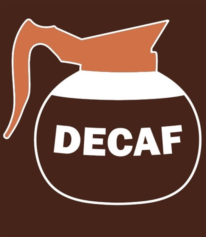 decaf kafeinsiz kahve
