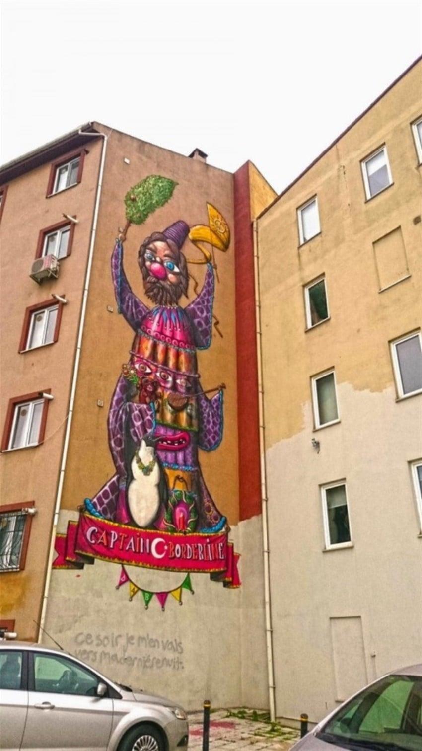 Kadıköy Yeldeğirmeni Duvar Sanatı