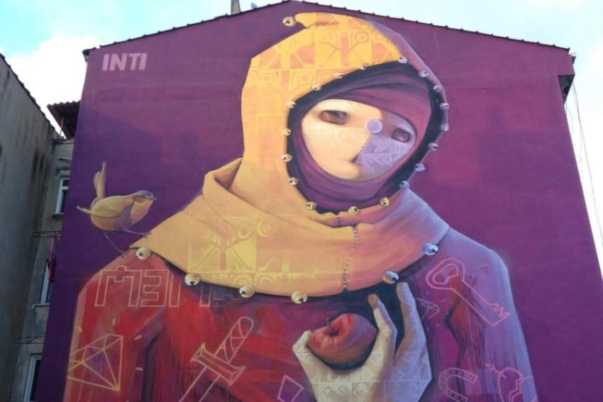 Kadıköy Yeldeğirmeni Duvar Sanatı INTI