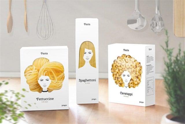 Yaratıcı Ambalaj Tasarımı Makarnayı Saç Şekline Dönüştürüyor3
