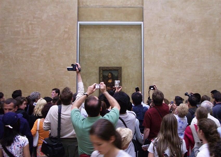 Mona Lisa, Louvre Müzesi, Paris