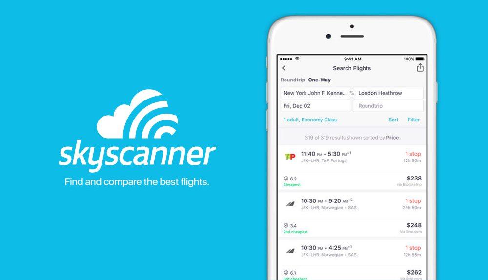 Seyahat Ederken Telefonunuzda Olması Gereken 10 Uygulama Skyscanner