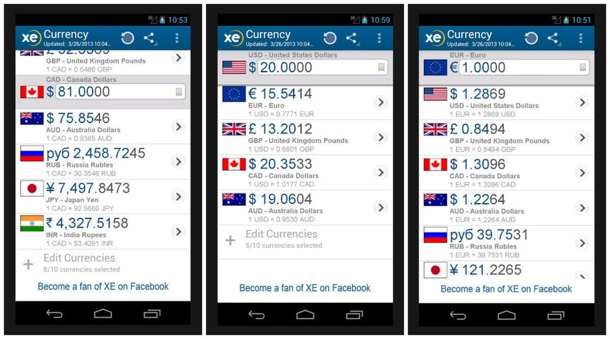 Seyahat Ederken Telefonunuzda Olması Gereken 10 Uygulama XE Currency