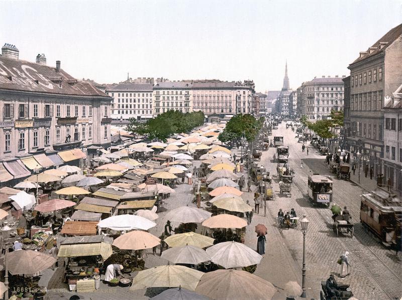 Vienna Naschmarkt 1900