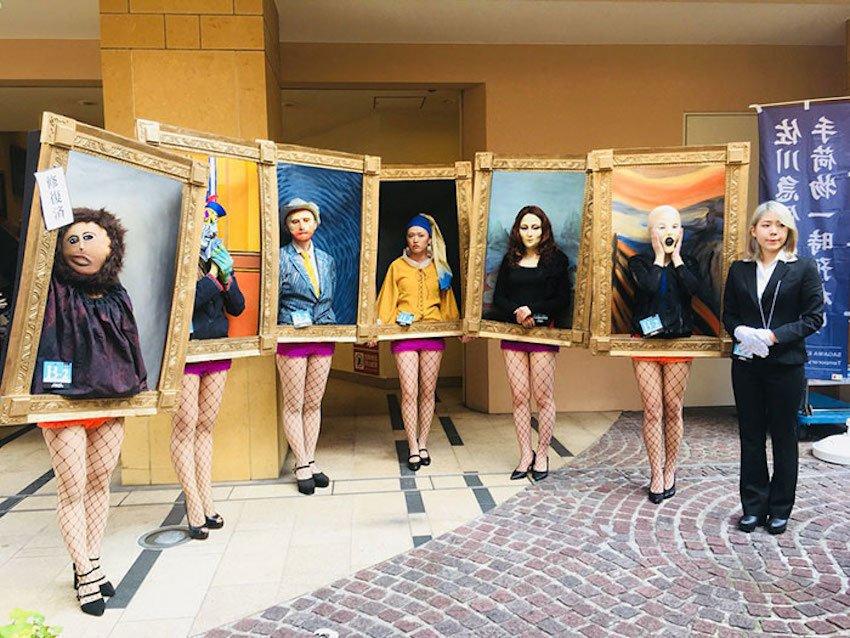 Japon Sanat Öğrencileri Kendilerini Ünlü Tablolara Çevirdiler
