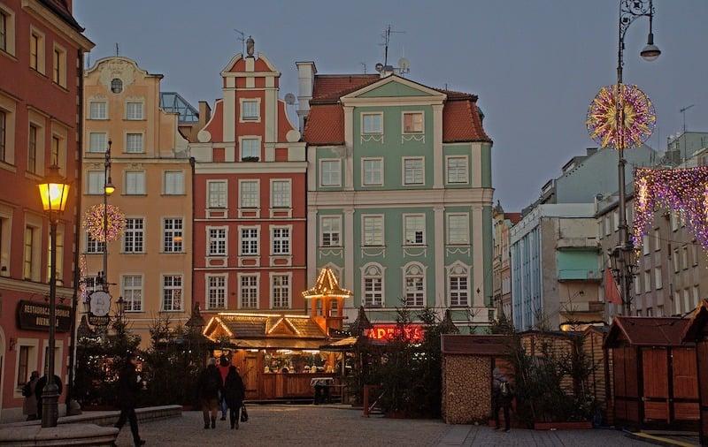 Polonya Wroclaw Noel Pazarı