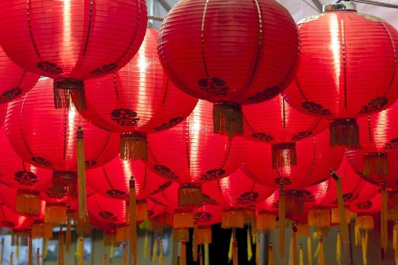 Kırmızı Çin Fenerleri