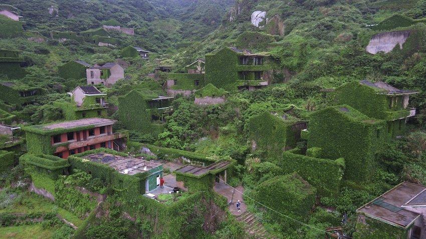 Balıkçı Köyü Houtouwan, Çin