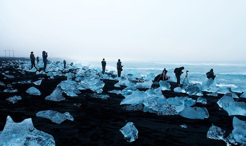 Jökulsárlon Plajı, İzlanda